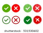 tick and cross signs. green... | Shutterstock . vector #531530602
