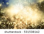 fireworks at new year and copy... | Shutterstock . vector #531538162