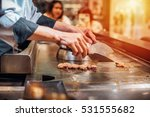 hand of man take cooking of... | Shutterstock . vector #531555682