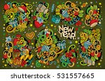 colorful vector hand drawn... | Shutterstock .eps vector #531557665