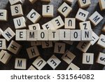 emotion word concept | Shutterstock . vector #531564082