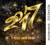 happy new year 2017  festive... | Shutterstock .eps vector #531564136