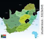 vector map of south africa | Shutterstock .eps vector #53156545