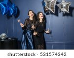 two laughing models in trendy... | Shutterstock . vector #531574342
