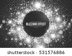 snow blizzard effect on... | Shutterstock .eps vector #531576886