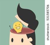 idea concept. light bulb in man ... | Shutterstock .eps vector #531585706