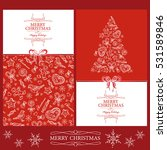 vector set. christmas and new... | Shutterstock .eps vector #531589846