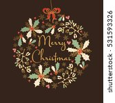 golden christmas and new year... | Shutterstock .eps vector #531593326