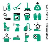 wiping  clean icon set | Shutterstock .eps vector #531594196
