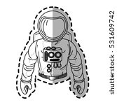isolated astronaut cartoon... | Shutterstock .eps vector #531609742