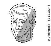 isolated man cartoon design | Shutterstock .eps vector #531610345
