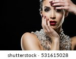 beautiful woman with dark... | Shutterstock . vector #531615028