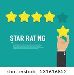 rating stars. flat design | Shutterstock .eps vector #531616852