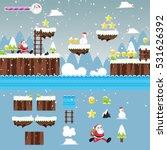 modern christmas santa... | Shutterstock .eps vector #531626392