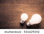small and big light bulb  small ... | Shutterstock . vector #531629242