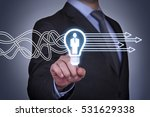 business person touching... | Shutterstock . vector #531629338