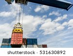 Industrial Port Crane Loading...