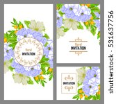 romantic invitation. wedding ... | Shutterstock .eps vector #531637756
