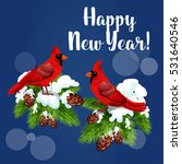 Cardinal Birds Holiday Greetin...