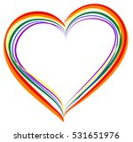 lgbt rainbow heart symbol of... | Shutterstock .eps vector #531651976