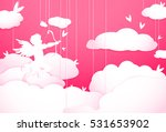 cute valentines day greeting... | Shutterstock .eps vector #531653902