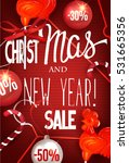 christmas and new year sale... | Shutterstock .eps vector #531665356
