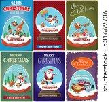 vintage christmas poster design ... | Shutterstock .eps vector #531669736