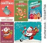 vintage christmas poster design ... | Shutterstock .eps vector #531669766