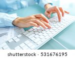 female hands or woman office... | Shutterstock . vector #531676195