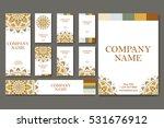 set of business cards. vintage... | Shutterstock .eps vector #531676912