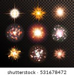 glowing stars  lights  sparkles ... | Shutterstock .eps vector #531678472