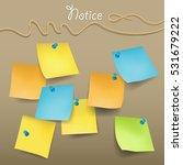 sticky note vector  | Shutterstock .eps vector #531679222