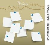 sticky note vector  | Shutterstock .eps vector #531679228