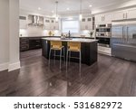 luxury modern kitchen and... | Shutterstock . vector #531682972