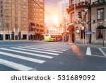 old shanghai in sunset  the... | Shutterstock . vector #531689092