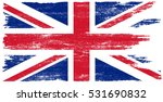 grunge uk flag.vector british... | Shutterstock .eps vector #531690832