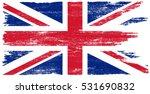 grunge uk flag.vector british... | Shutterstock .eps vector #531690832