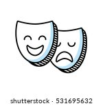 theater mask classic icon... | Shutterstock .eps vector #531695632