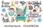 christmas and new year hand... | Shutterstock .eps vector #531698236