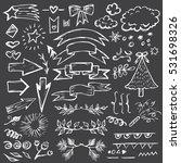 hand drawn vector set of... | Shutterstock .eps vector #531698326