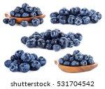 fresh blueberry fruits on white ... | Shutterstock . vector #531704542