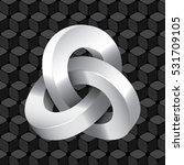 triple mobius loop impossible...   Shutterstock .eps vector #531709105