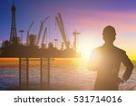engineer looking at a off shore ... | Shutterstock . vector #531714016
