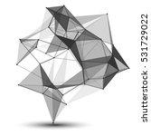 wireframe mesh polygonal... | Shutterstock .eps vector #531729022