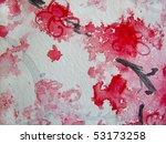Cherry Blossoms Watercolor 6 - stock photo