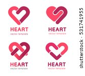 red heart   vector set logo... | Shutterstock .eps vector #531741955