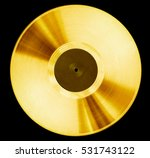 gold record music disc award... | Shutterstock . vector #531743122