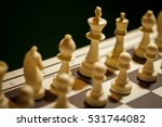 shot of a chess board  with... | Shutterstock . vector #531744082