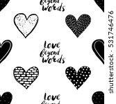 monochrome romantic seamless... | Shutterstock .eps vector #531746476
