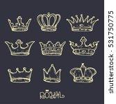 crown hand drawn. vector... | Shutterstock .eps vector #531750775